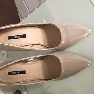 Forever 21 nude pumps worn once !